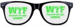 BLACK | GREEN WTF HAPPENED LAST NIGHT SUNGLASSES CASHCLIP HITSTARS SPRING BREAK 2014 PANAMA CITY BEACH FL