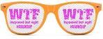 ORANGE / PINK WTF HAPPENED LAST NIGHT SUNGLASSES CASHCLIP HITSTARS SPRING BREAK 2014 PANAMA CITY BEACH FL