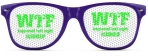 PURPLE | GREEN WTF HAPPENED LAST NIGHT SUNGLASSES CASHCLIP HITSTARS SPRING BREAK 2014 PANAMA CITY BEACH FL